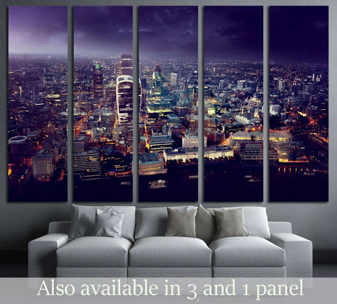 City of London At Sunset №2991 Ready to Hang Canvas Print