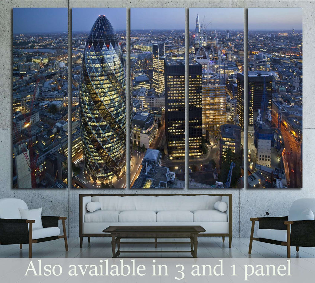City of London Skyline At Sunse №2148 Ready to Hang Canvas Print