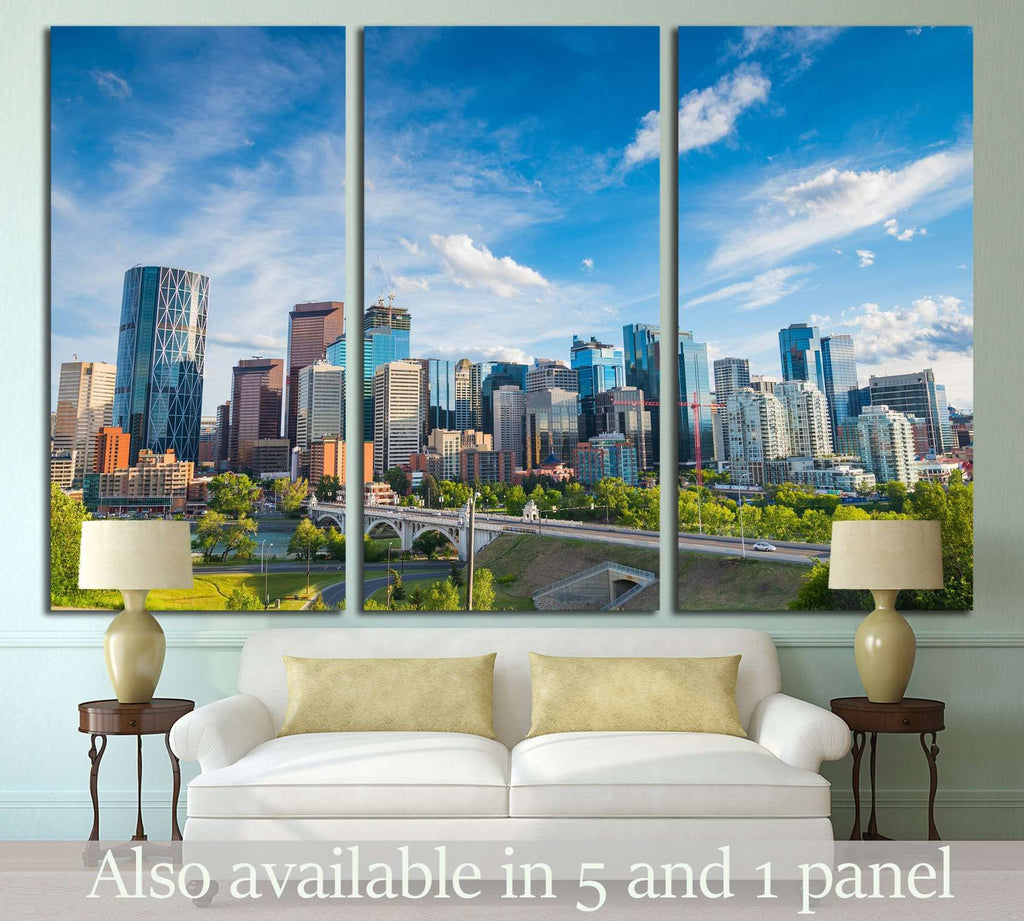 City skyline of Calgary, Alberta, Canada №2083 Ready to Hang Canvas Print