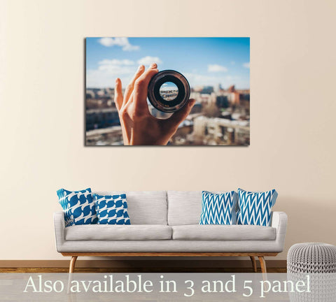 City view through the lens №3044 Ready to Hang Canvas Print