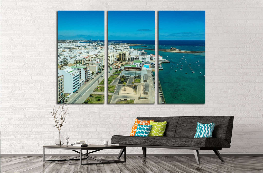 Cityscape of Arrecife, the capital city of Lanzarote island, Spain №1765 Ready to Hang Canvas Print