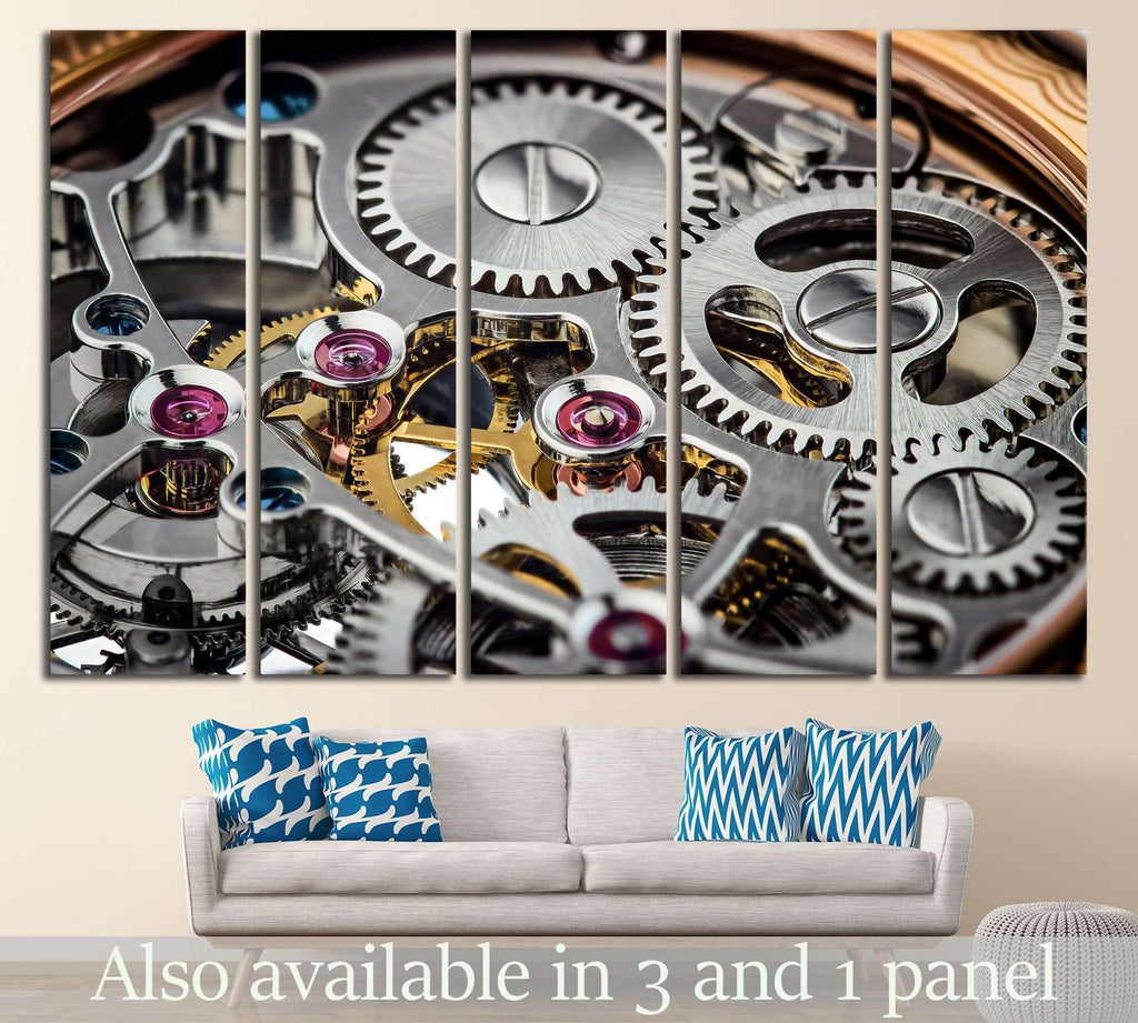 Clock Mechanism №218 Ready to Hang Canvas Print