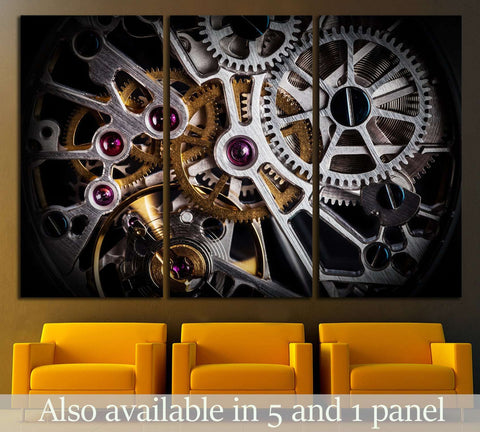 Clock Mechanism №535 Ready to Hang Canvas Print