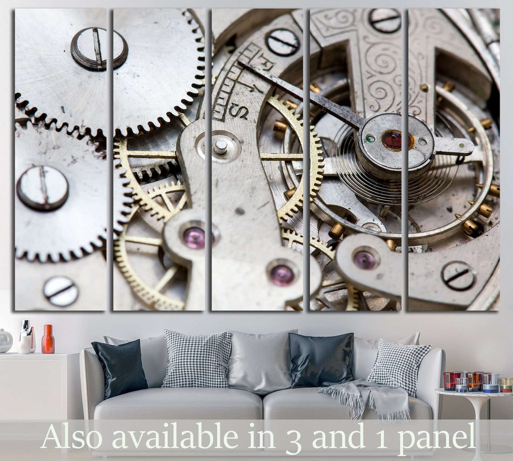 Clock wall art №216 Ready to Hang Canvas Print