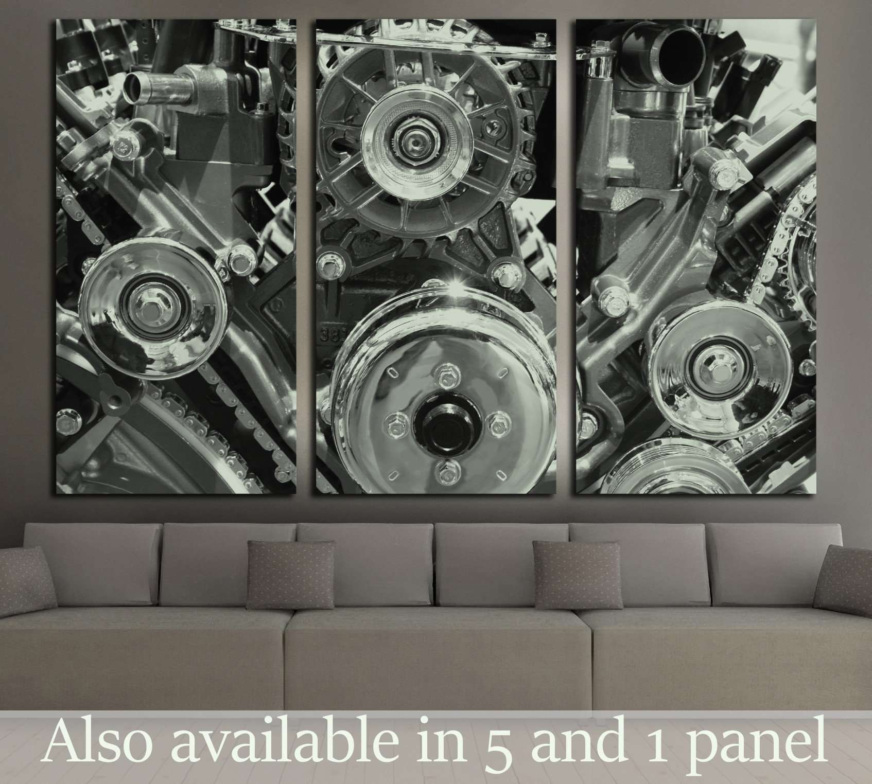 Close up engine №137 Ready to Hang Canvas Print