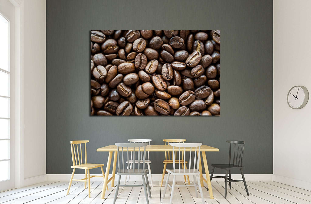 Coffee beans №1913 Ready to Hang Canvas Print