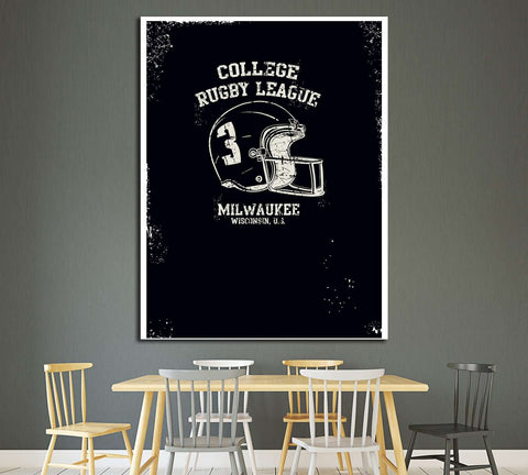 college rugby league milwauke №4593 Ready to Hang Canvas Print