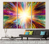 Color Explosion №1057 Ready to Hang Canvas Print