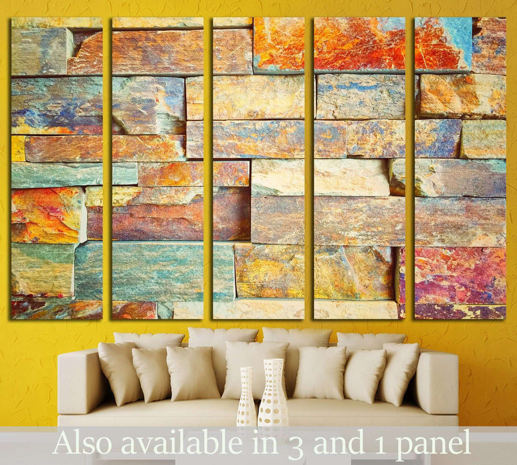 Color marble abstract №1606 Ready to Hang Canvas Print