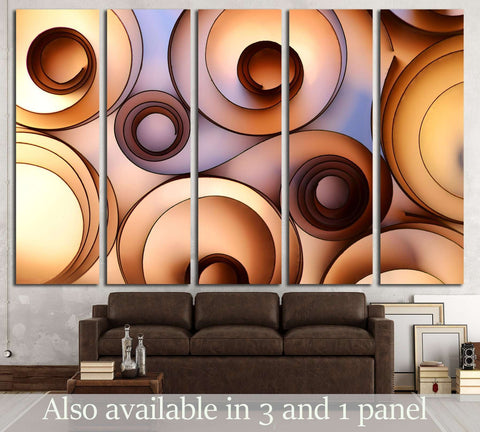 color paper decoration №3223 Ready to Hang Canvas Print