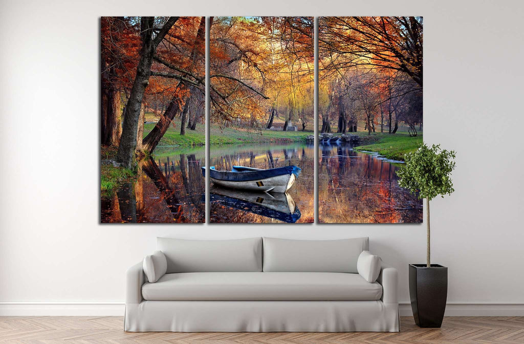 Colorful autumn landscape №850 Ready to Hang Canvas Print