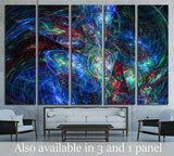 Colorful glowing abstract pattern, fractal for background №1588 Ready to Hang Canvas Print