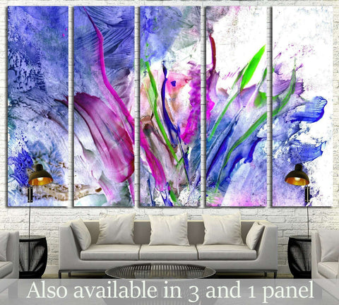 Colorful paint splashing №1339 Ready to Hang Canvas Print
