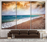 colorful sunset on the sea №844 Ready to Hang Canvas Print