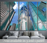 Corporate buildings in perspective №1785 Ready to Hang Canvas Print