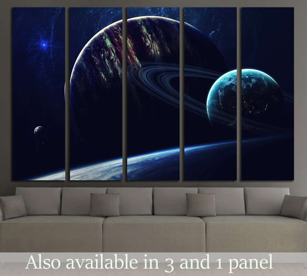 Cosmic art, science fiction wallpaper. Beauty of deep space. №2423 Ready to Hang Canvas Print