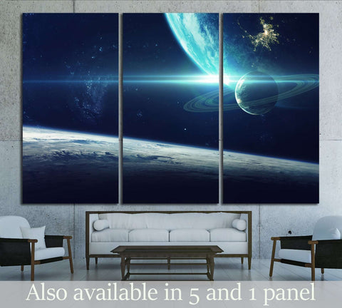 Cosmic art, science fiction wallpaper. Beauty of deep space. №2424 Ready to Hang Canvas Print