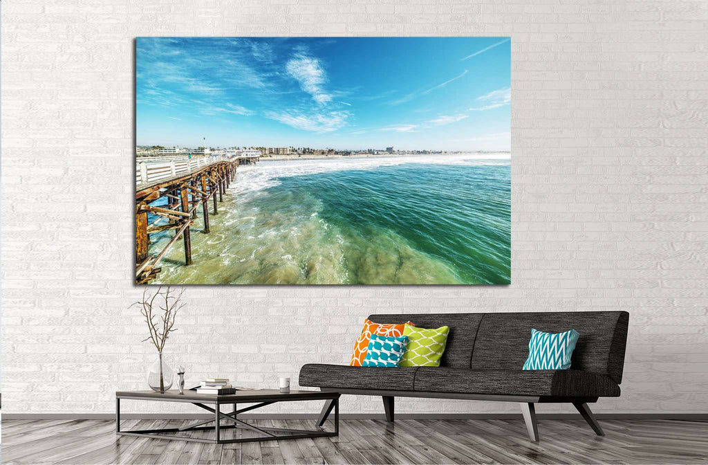 Crystal pier in San Diego, California №1032 Ready to Hang Canvas Print