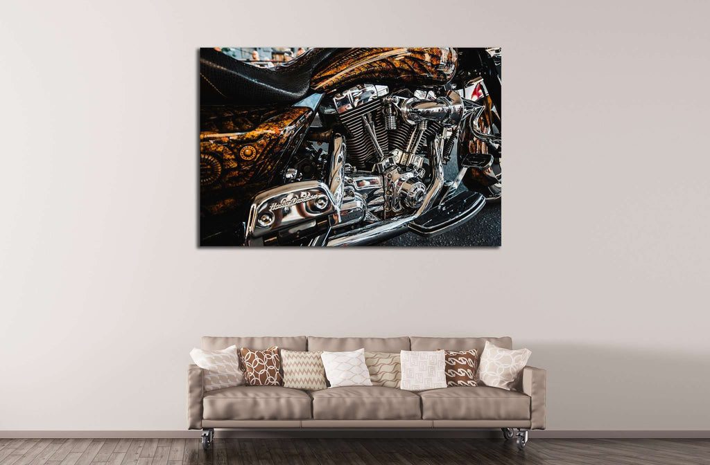 Custom Motor Bike №540 Ready to Hang Canvas Print