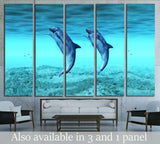 dancing dolphins №2335 Ready to Hang Canvas Print
