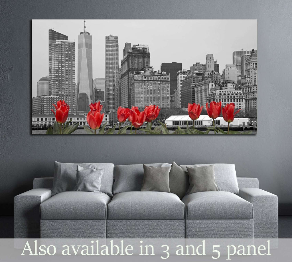 dark low poly city views from above. 3d rendering №3061 Ready to Hang Canvas Print