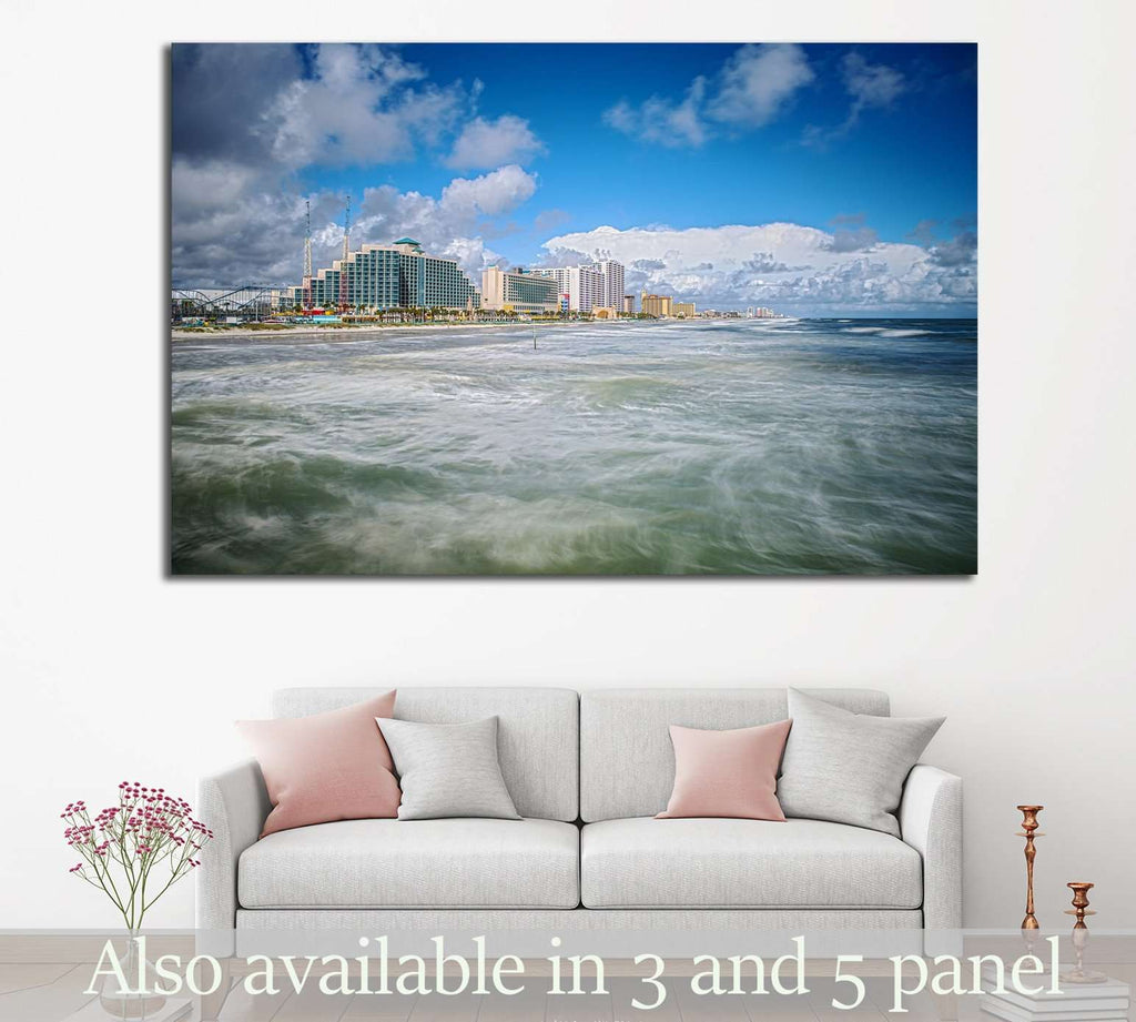 Daytona Beach Florida from Sunglow Fishing Pier №1299 Ready to Hang Canvas Print