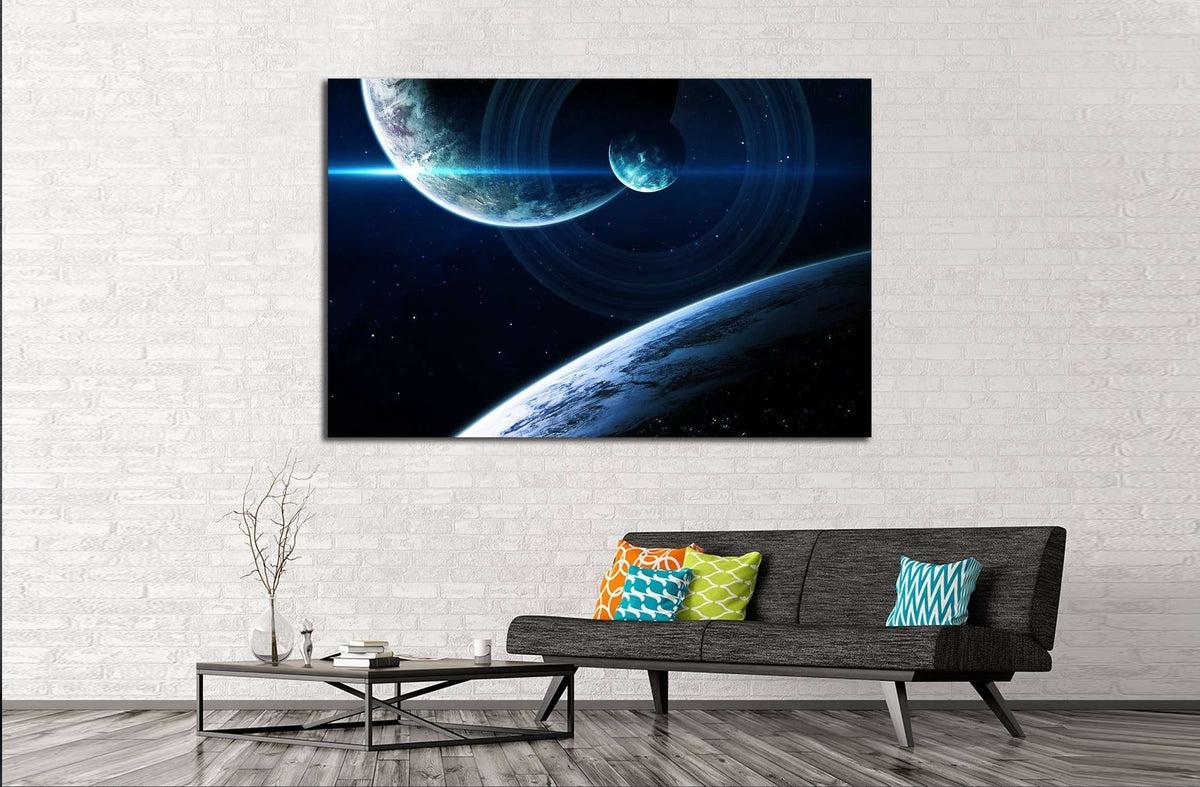 Deep Space Art Nebulas Planets Galaxies And Stars In