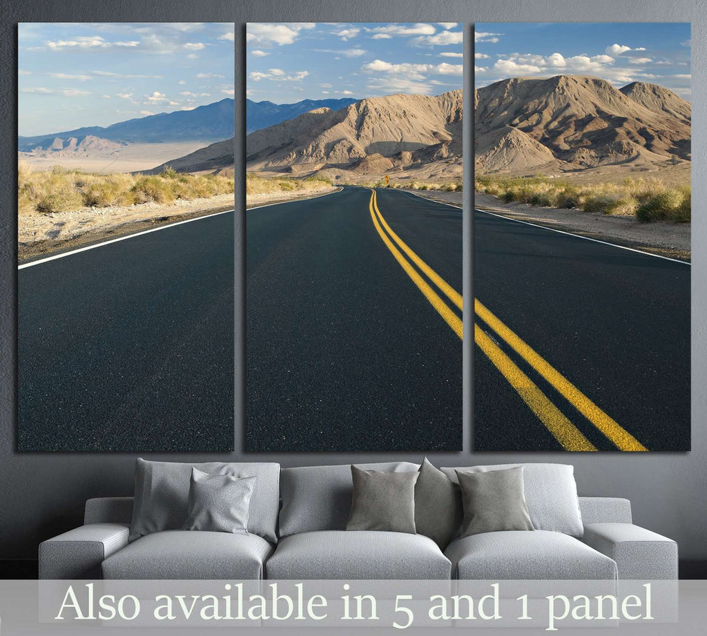 Desert road in Southern California №1899 Ready to Hang Canvas Print