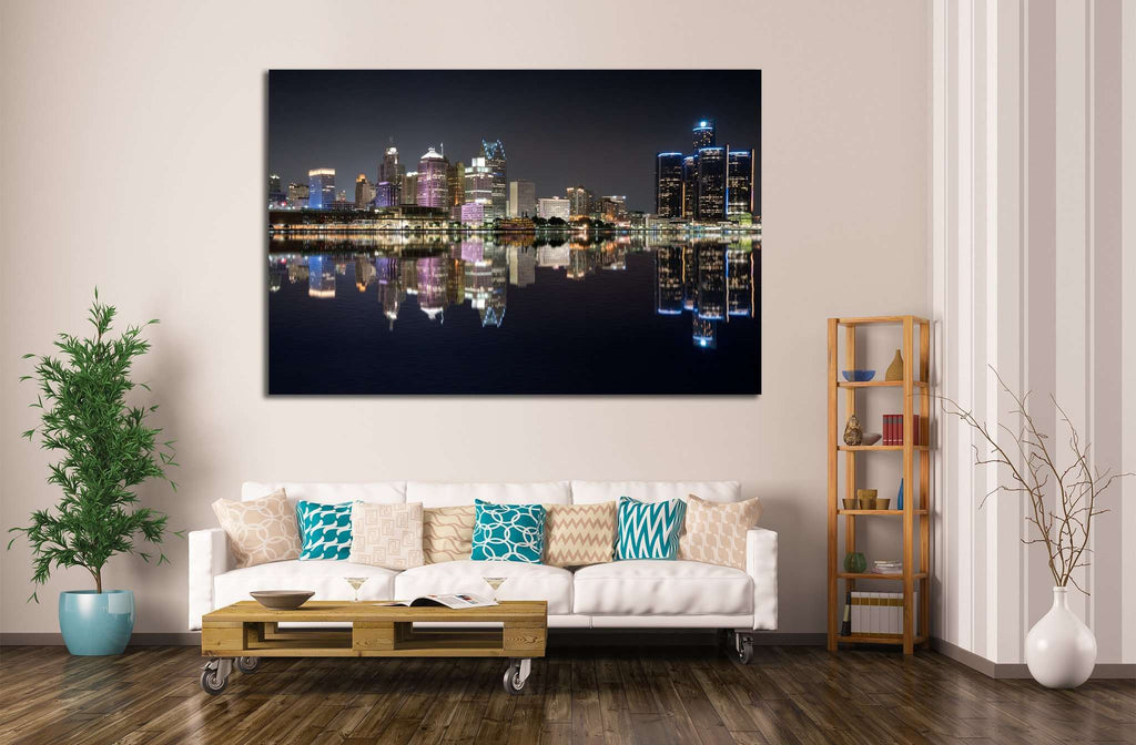Detroit Cityscape №132 Ready to Hang Canvas Print