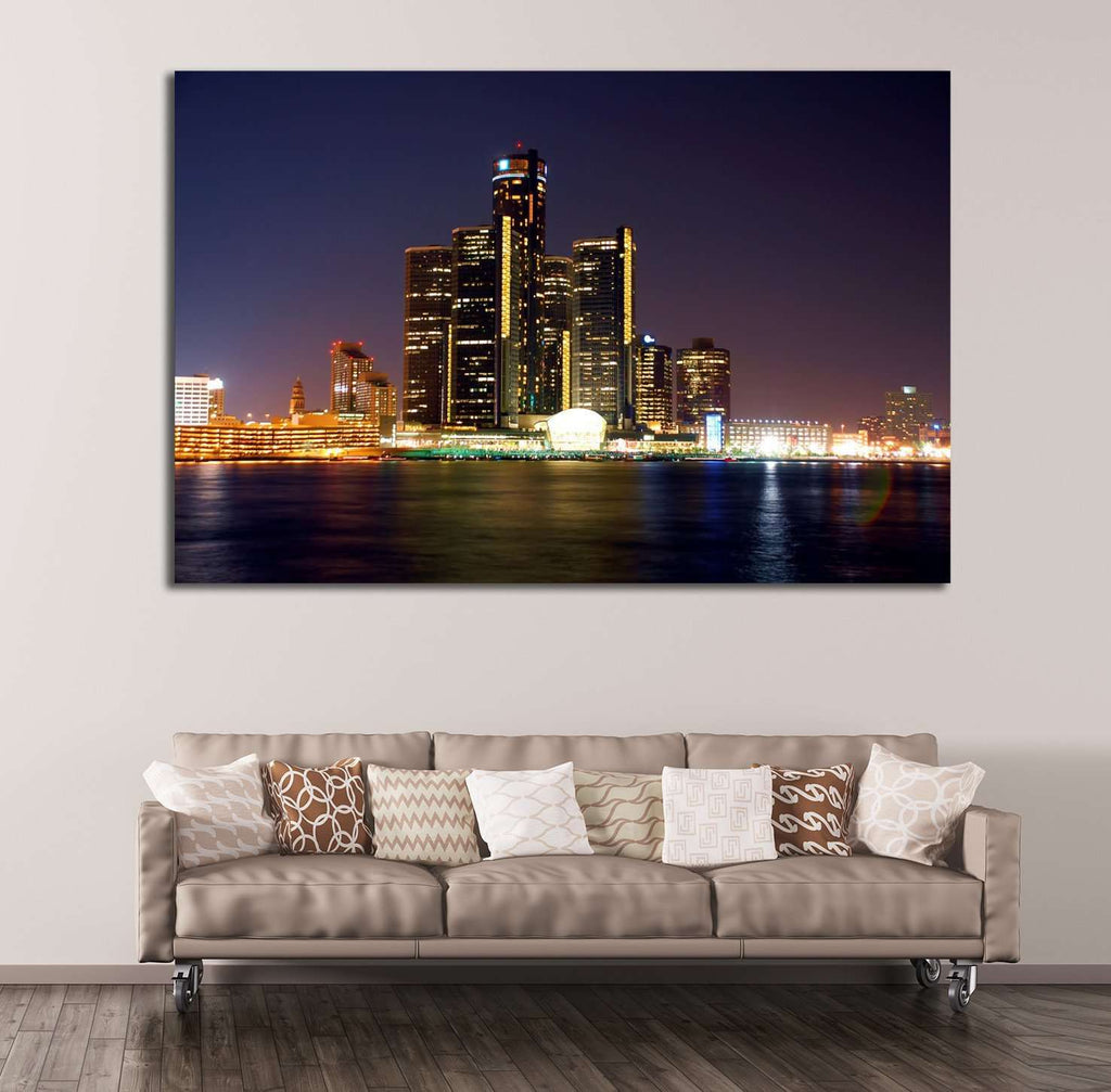 Detroit Cityscape №134 Ready to Hang Canvas Print