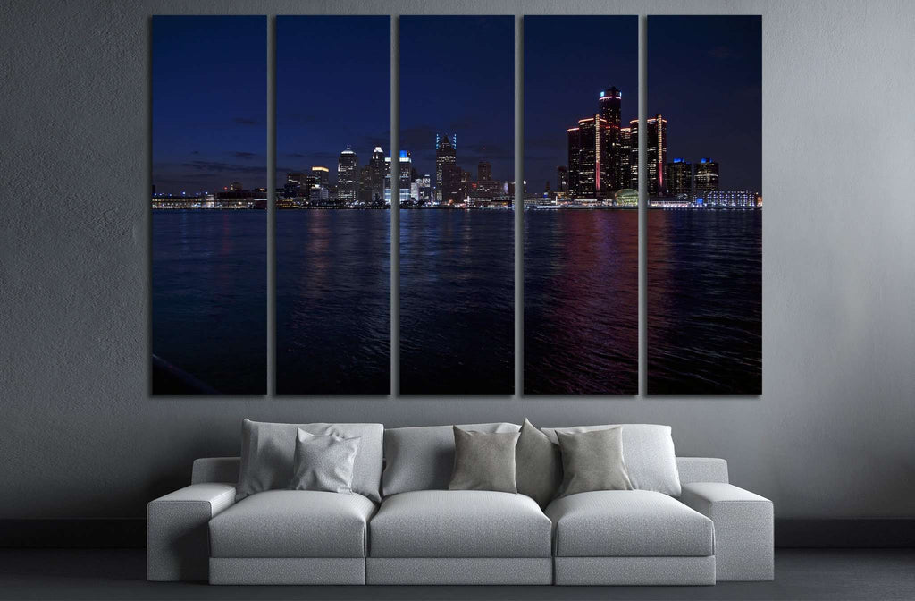 Detroit Skyline №133 Ready to Hang Canvas Print