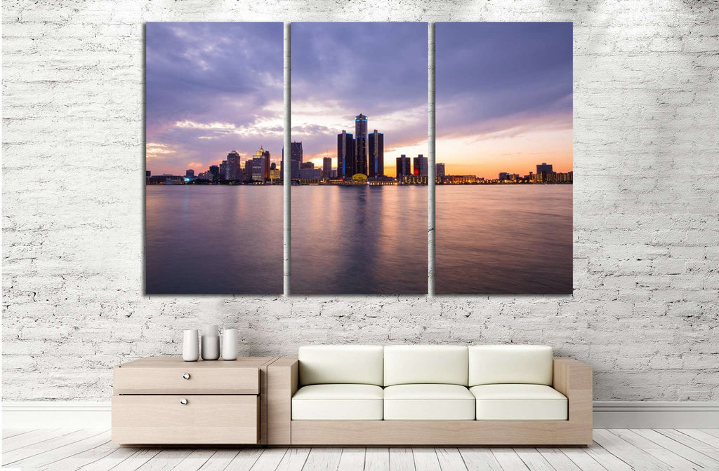 Detroit Skyline №135 Ready to Hang Canvas Print