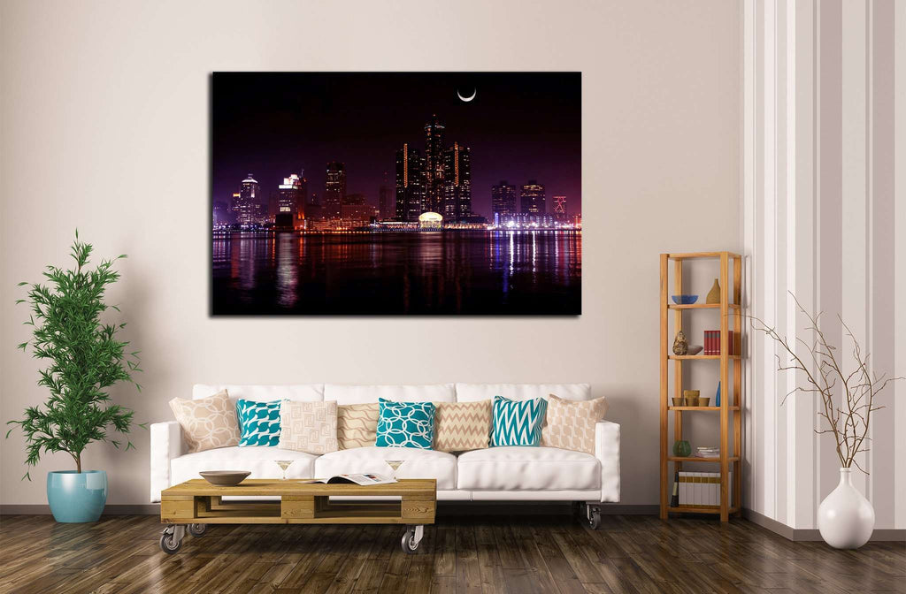 Detroit Skyscraper №136 Ready to Hang Canvas Print
