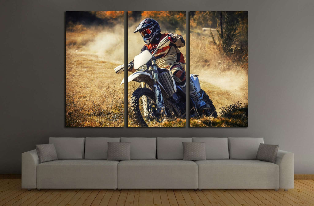 Dirt Bike №165 Ready to Hang Canvas Print
