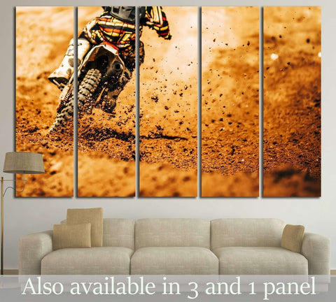 Dirt Bike №168 Ready to Hang Canvas Print