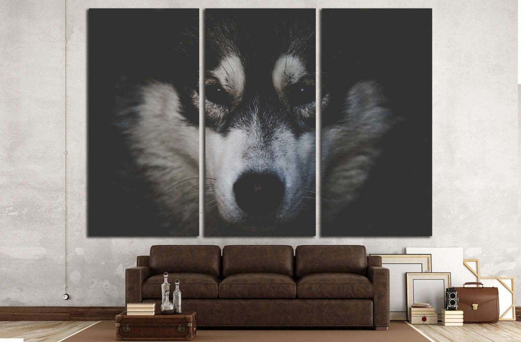 Dog Black and White №2 Ready to Hang Canvas Print