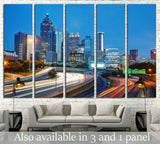 Downtown Atlanta, Georgia at the sunset time №1645 Ready to Hang Canvas Print