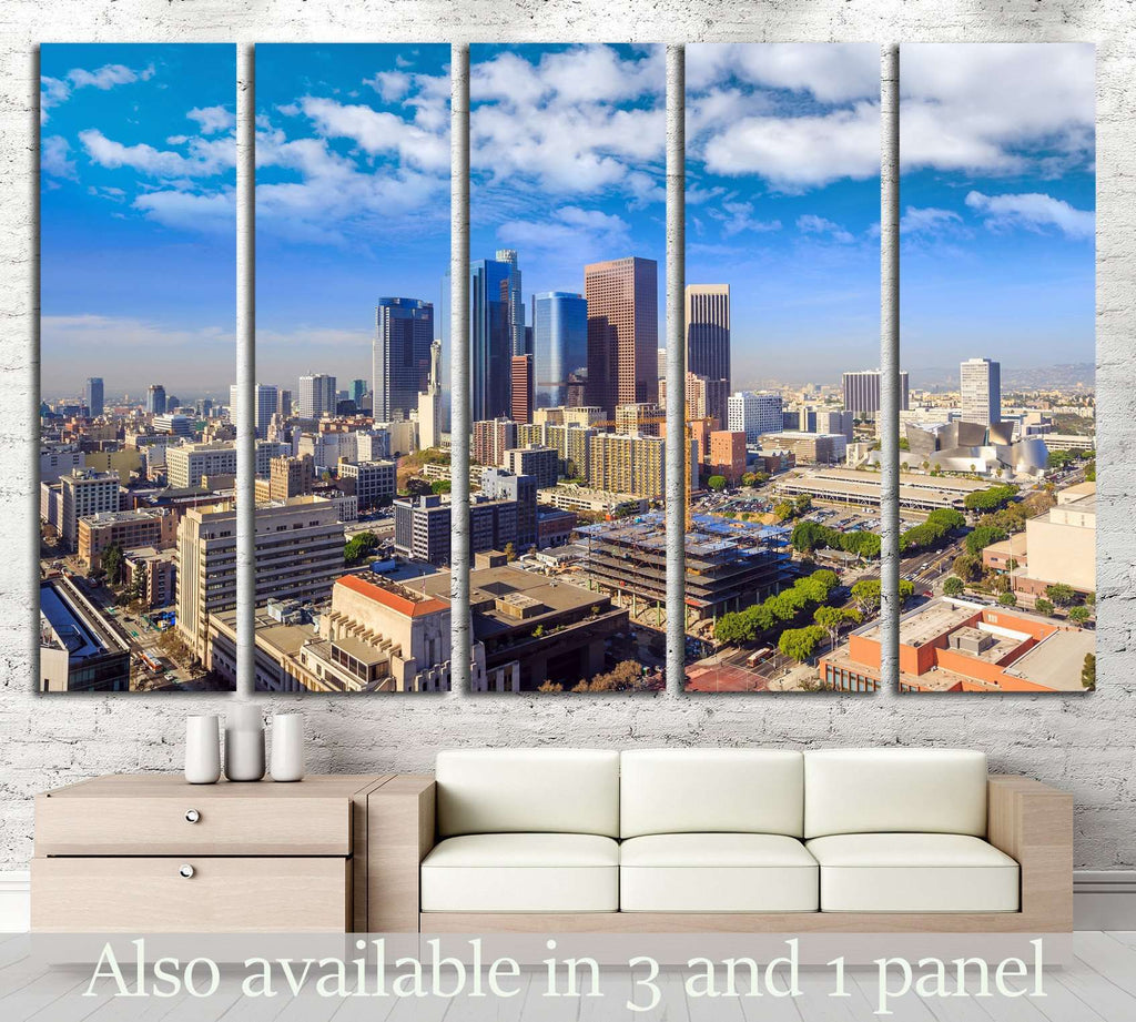 Downtown Los Angeles skyline, California №1223 Ready to Hang Canvas Print