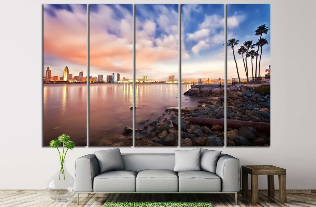 Downtown San Diego №811 Ready to Hang Canvas Print