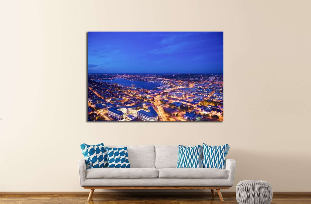 downtown seattle from above №1358 Ready to Hang Canvas Print