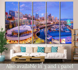 downtown Seattle №1365 Ready to Hang Canvas Print