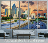 Downtowntown Atlanta, Georgia Skyline №1624 Ready to Hang Canvas Print