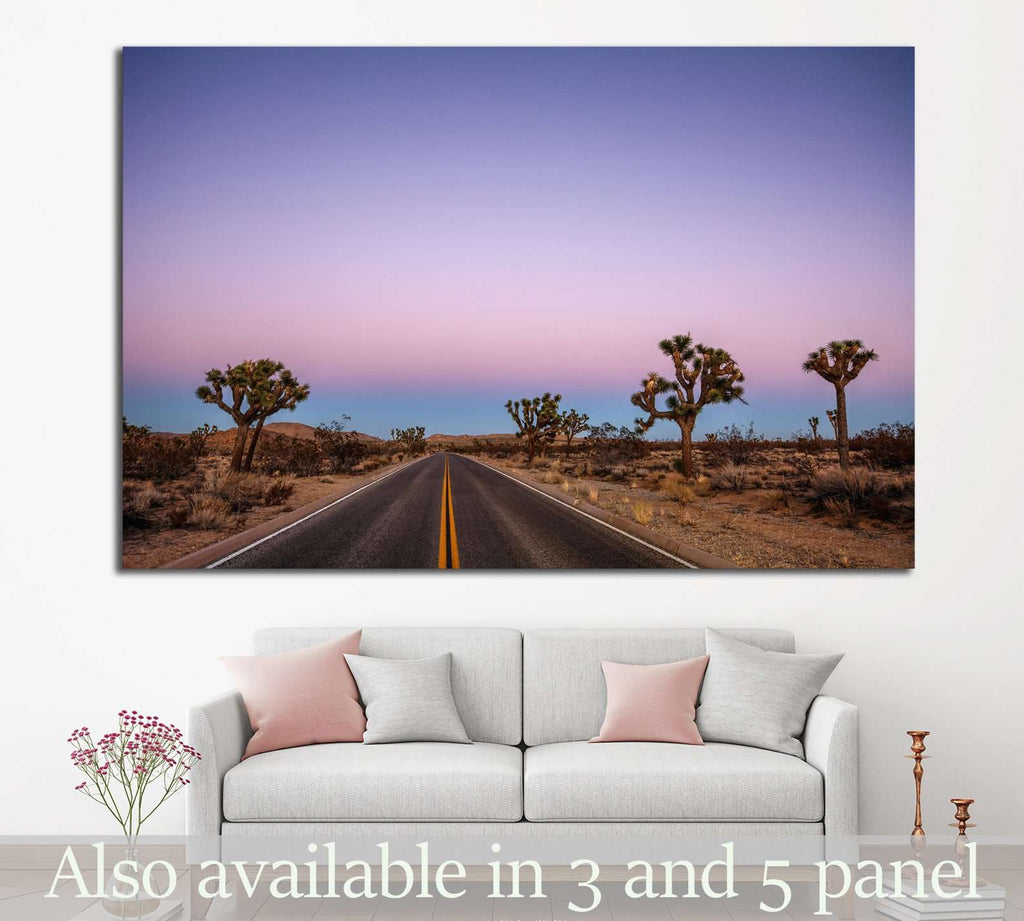 Driving through the desert №846 Ready to Hang Canvas Print