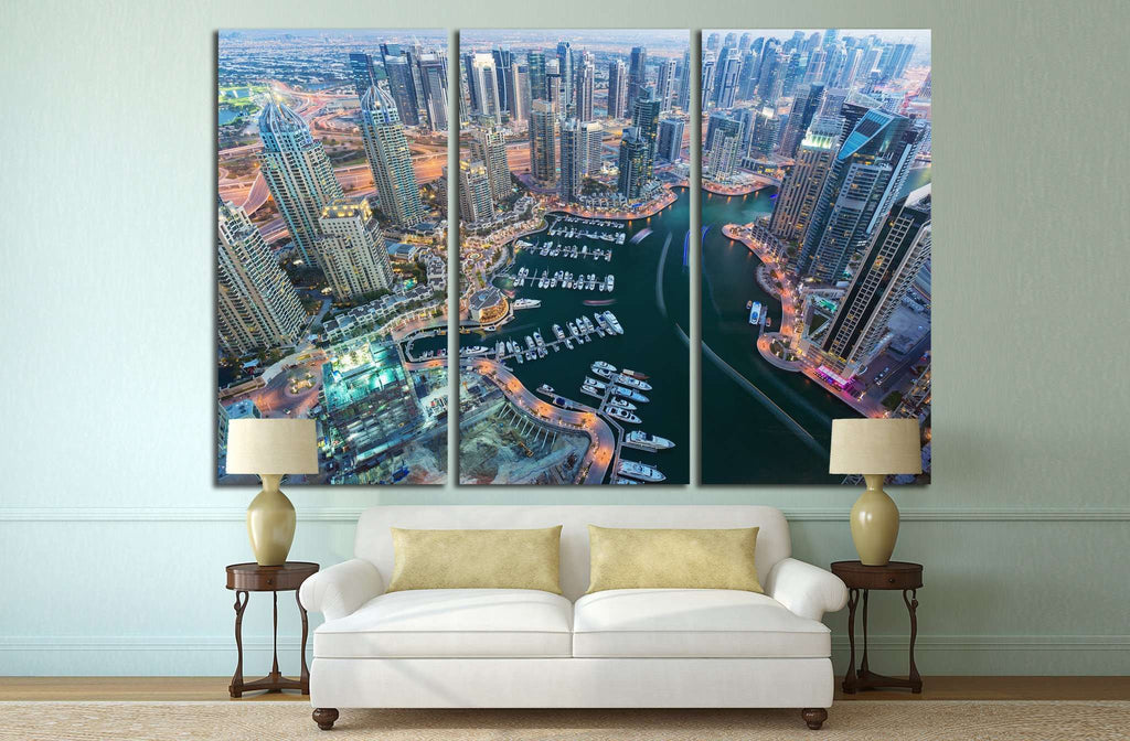 Dubai Marina, United Arab Emirates №1149 Ready to Hang Canvas Print