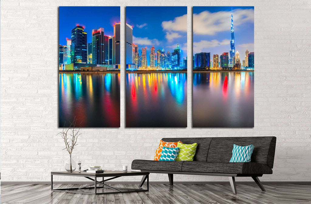 Dubai skyline №567 Ready to Hang Canvas Print