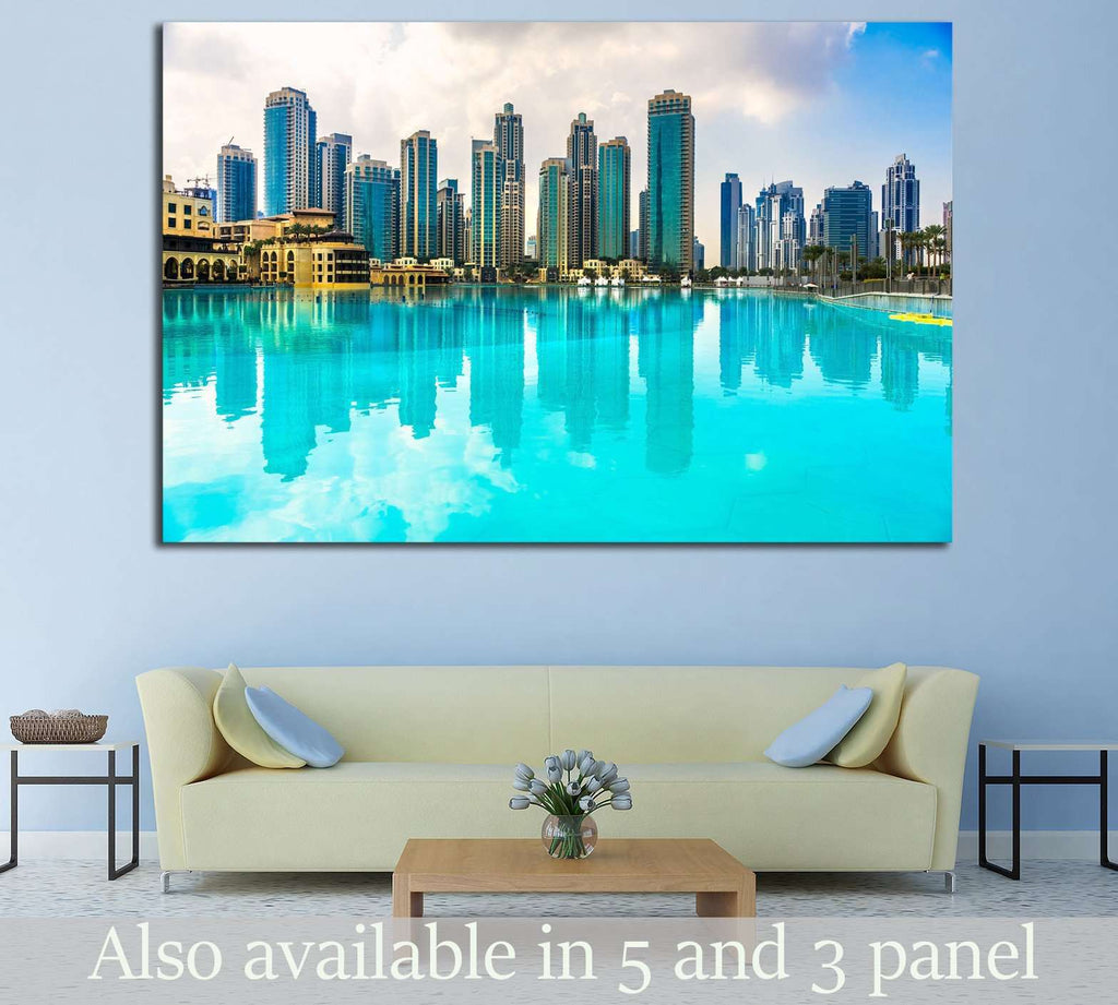 Dubai skyline №568 Ready to Hang Canvas Print