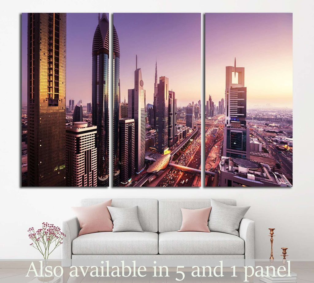 Dubai skyline, United Arab Emirates №1191 Ready to Hang Canvas Print