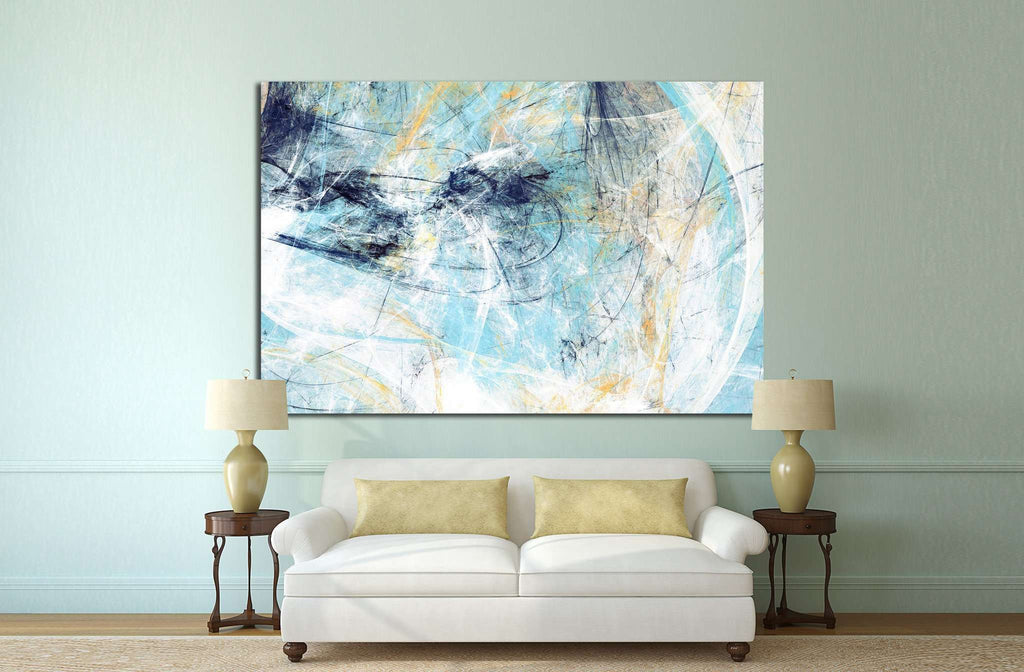 Dynamic painting texture №1050 Ready to Hang Canvas Print