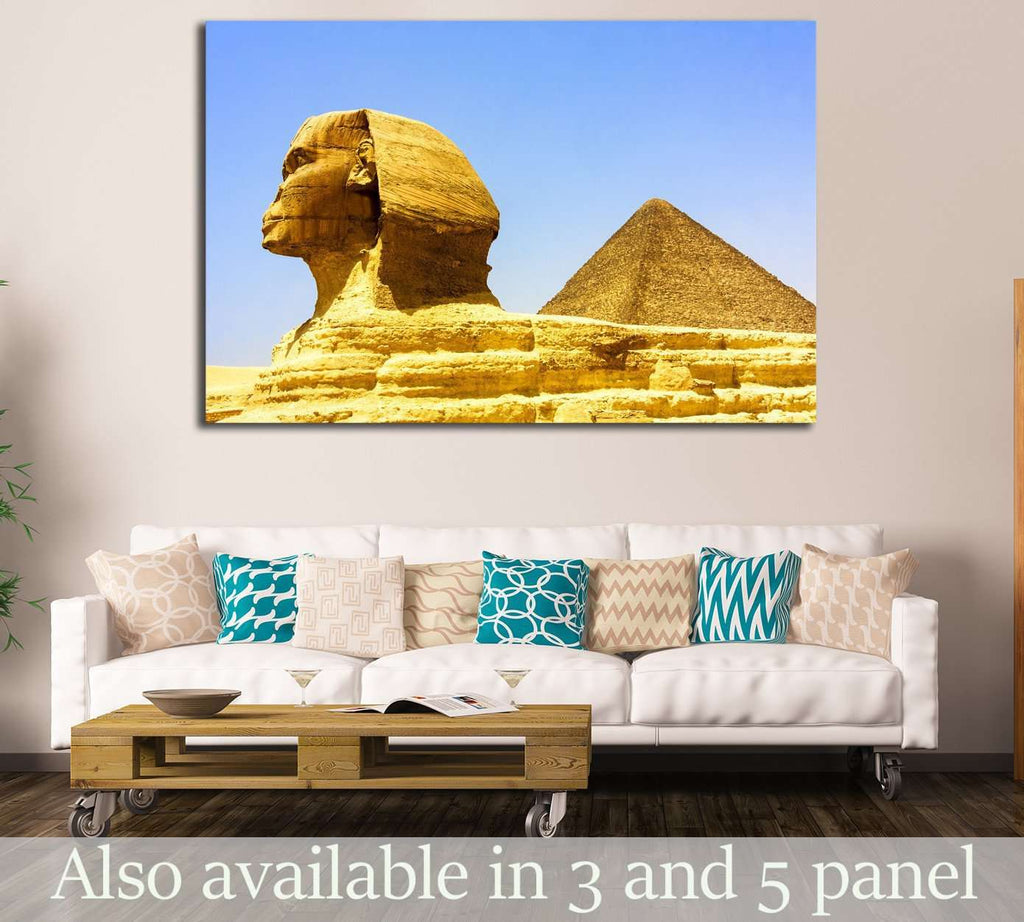 Egyptian pyramids in Giza №2199 Ready to Hang Canvas Print
