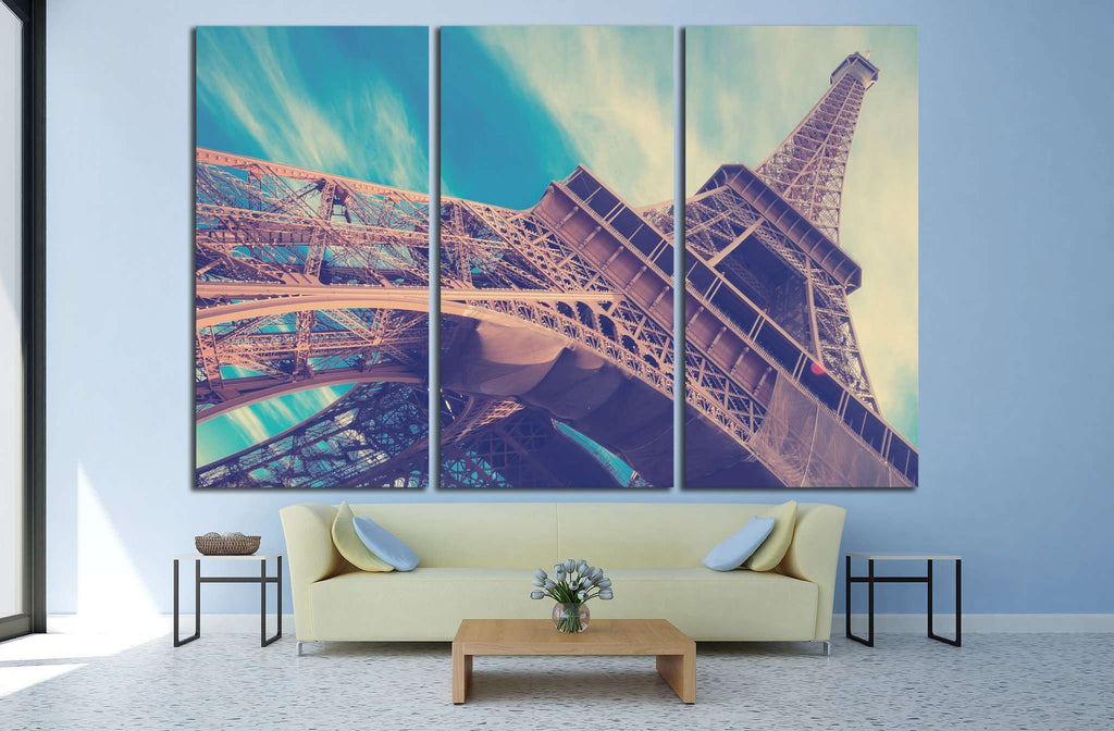 Eiffel Tower in Paris, France №1176 Ready to Hang Canvas Print